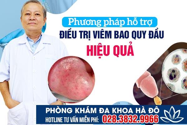 Phương pháp hỗ trợ chữa viêm bao quy đầu hiệu quả hiện nay